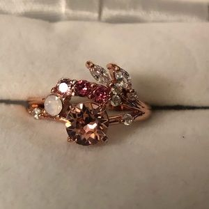 Rose gold ring w/multiple stones